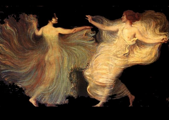 Franz Von Stuck   Dancers 580x414 Androgynie en femme fatale bij Franz von Stuck 